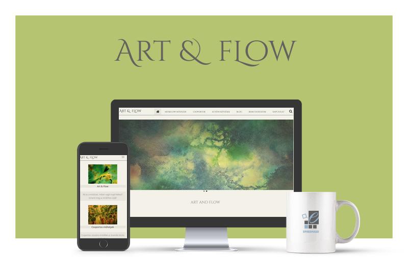 Weboldalkészítő referencia - art & flow